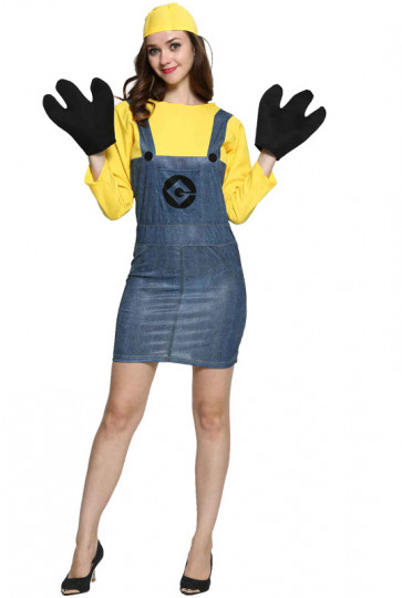 Minions Cosplay Costume For Women Halloween Costume
