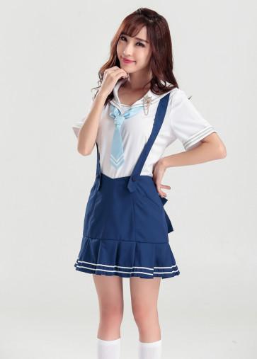 Sexy School Girl Womens Cosplay Costume