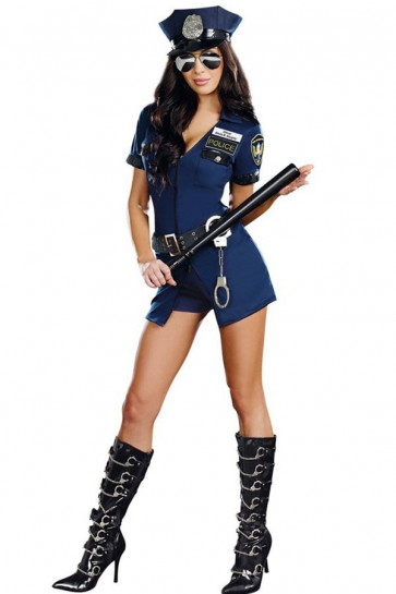 Sexy Police Woman Cosplay Costume