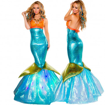 Mermaid Fin Dress Costume