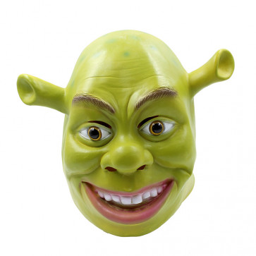 Shrek Latex Realistic Mask Cosplay Costume