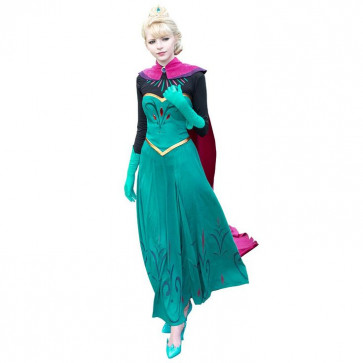 Disney Elsa Frozen Complete Cosplay Costume For Adults Halloween Costume