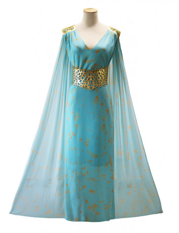 Daenerys Light Blue Dress Cosplay Costume Games of Thrones Halloween Costume