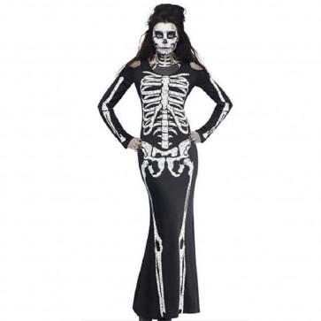 Skeleton Woman Costume Dress