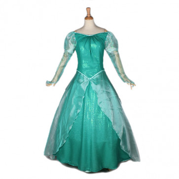 Disney Mermaid Ariel Princess Cosplay Costume Dress For Adults Halloween Costume