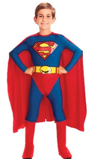 Boys Superman Halloween Cosplay Costume
