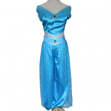 Disney Jasmine Dress Cosplay Outfit For Children and Adults Halloween Costume