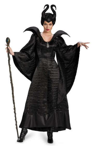 Disney Maleficent Black Princess Cosplay Costume Dress For Adults Halloween Costume