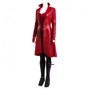 Civil War Scarlet Witch Wanda Maximoff Cosplay Costume