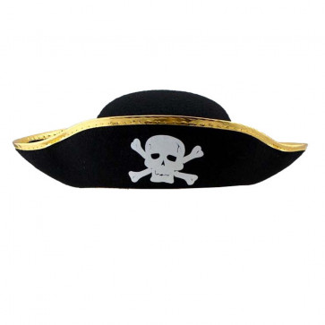 Halloween Prop Pirate Hat Gold Costume