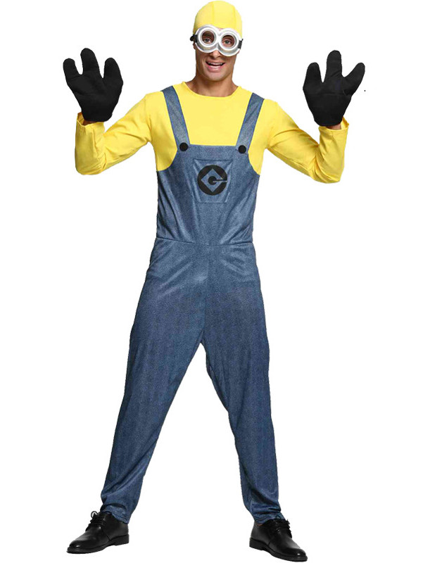 8abfba87c3a Minions Cosplay Costume For Men Halloween Costume