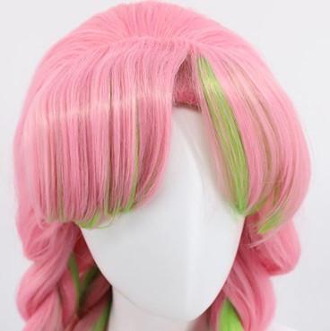 Demon Slayer Kanroji Mitsuri Pink Green Wig Costume Party World Zach aguilar, allegra clark (child) (english). demon slayer kanroji mitsuri pink green wig