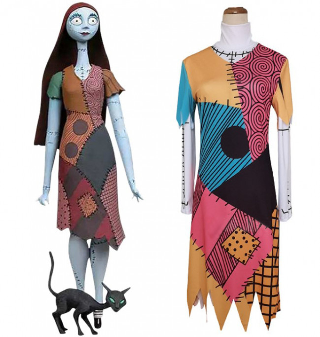 Sally The Nightmare Before Christmas Cosplay Costume Costume Party World