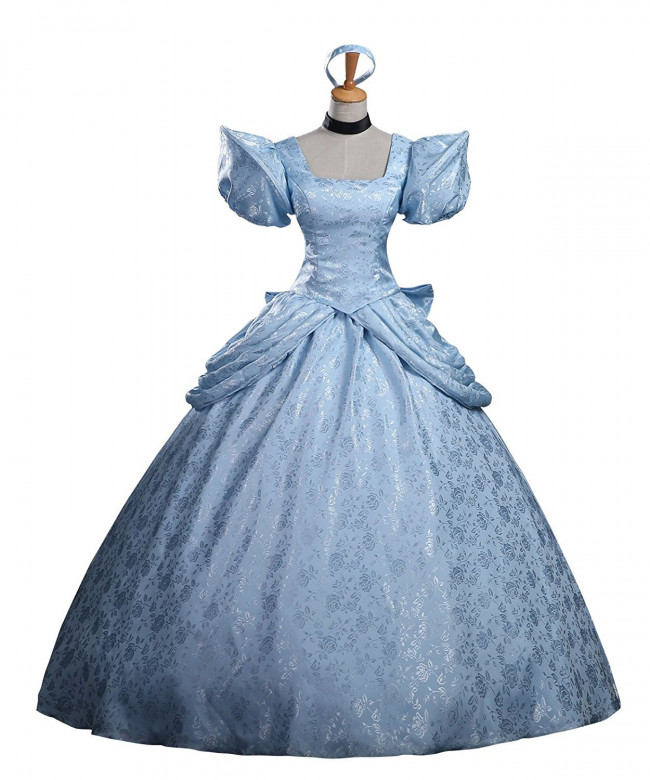 Disney Cinderella Cosplay Costume Dress For Adults Halloween Costume
