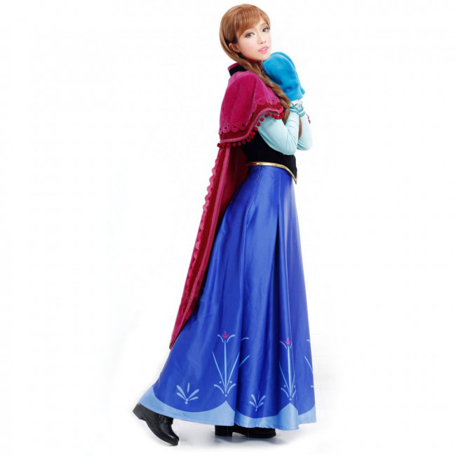 Disney Anna Frozen Complete Cosplay Costume For Adults Halloween