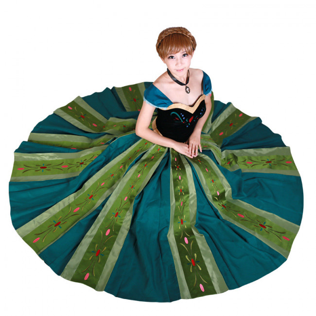 Frozen Anna Green Dress Complete Cosplay Costume For Adults Halloween Costume  sc 1 st  Costume Party World & Frozen Anna Green Dress Complete Cosplay Costume For Adults ...
