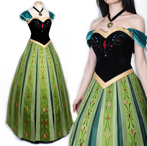 spiegazzato Cosmico Pavimentazione  Frozen Anna Green Dress Complete Cosplay Costume For Adults Halloween  Costume   Costume Party World