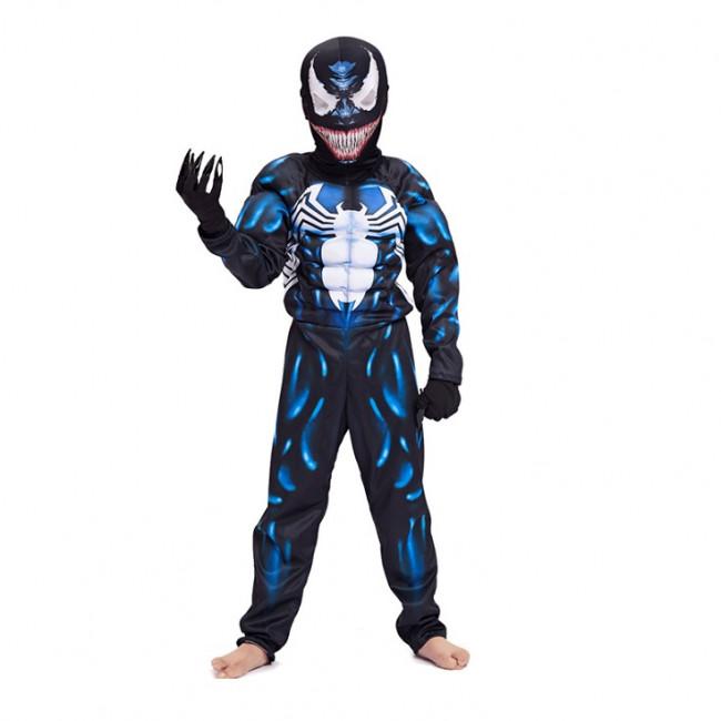 Spiderman Venom Mens Kids Boys Carnival Cosplay Party Costume Adult Fancy Dress