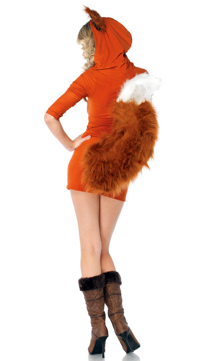 Halloween Sexy Fox Dress Ears Tail Women's Costume - Costume Party World