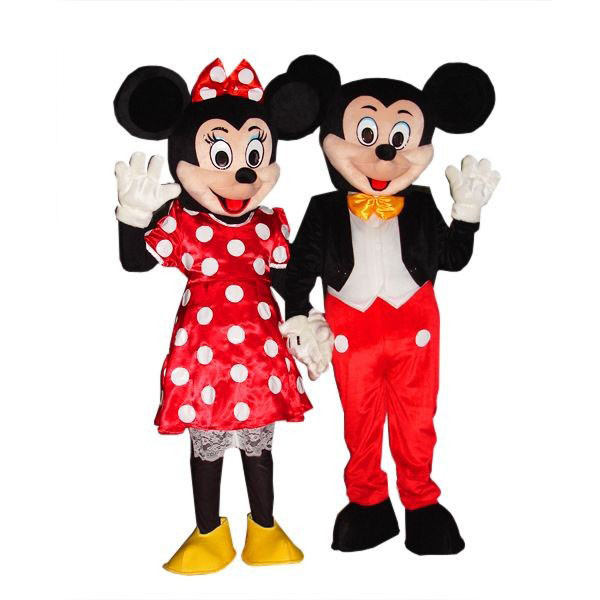 Giant Mickey And Minnie Mouse Mascot Costume Set Costume Party World