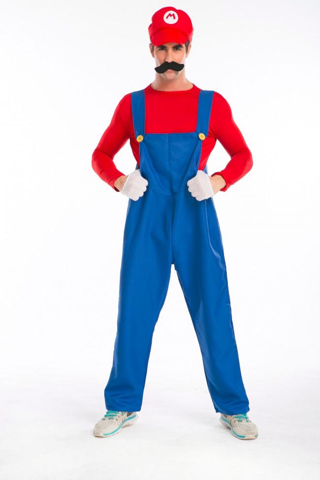 Super Mario Luigi Mario Cosplay Costume For Adults Halloween