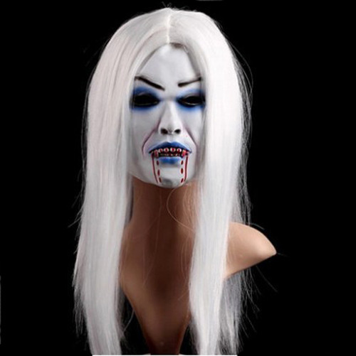 Halloween White Zombie Ghost Face Mask Costume 2  sc 1 st  Costume Party World & Halloween White Zombie Ghost Face Mask Costume 2 | Costume Party World
