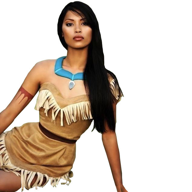 Pocohontas Halloween Costumes 2020 Disney Pocahontas Princess Cosplay Outfit For Children and Adults