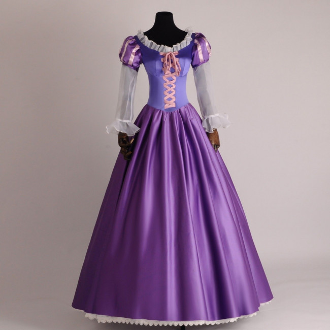 Disney Rapunzel Cosplay Costume Dress For Adults Halloween Costume ...