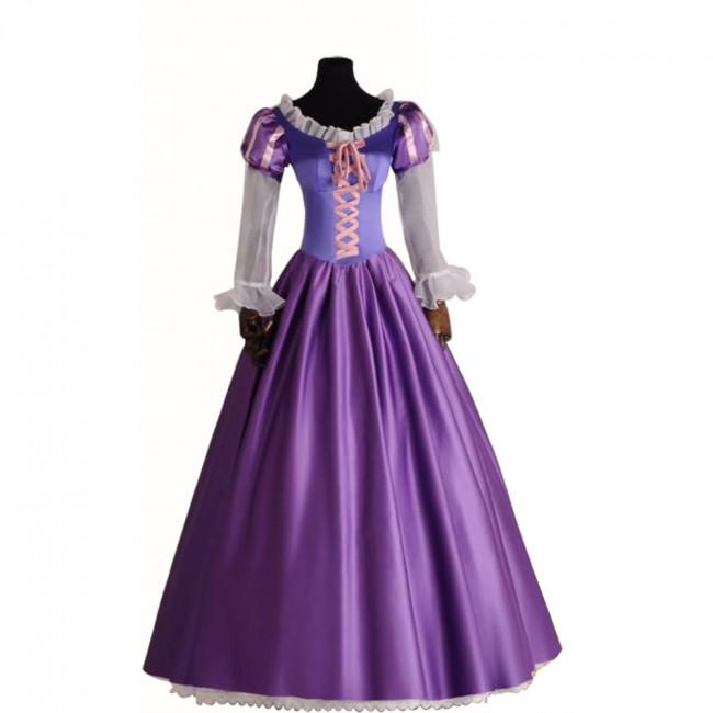 Disney Rapunzel Cosplay Costume Dress For Adults Halloween Costume