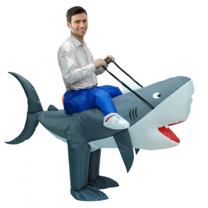 Inflatable Shark Riding Costume