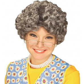 Granny Gray Old Lady Wig Yo Mamma Nanna Madea Granny Grandmother