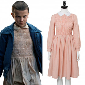 Stranger Things Eleven Pink Dress Costume