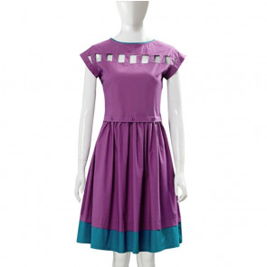 Stranger Things Nancy Wheeler Purple Dress Costume