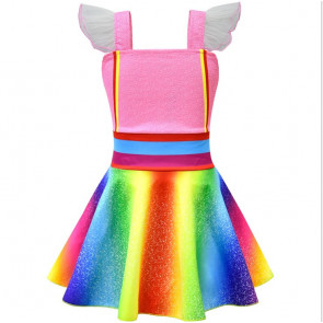 Fancy Nancy Rainbow Dress Costume