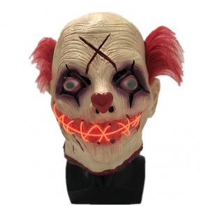 LED Scary Clown Mask