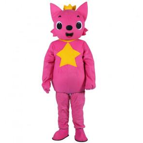 Giant Pink Fong Fox Mascot Costume