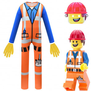 Boys Lego Movie 2 Emmet Deluxe Costume