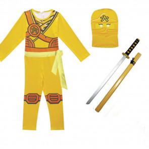 Boys Yellow Ninja Ninjago Costume