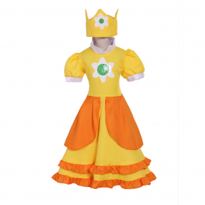 Princess Daisy Cosplay Costume Dress