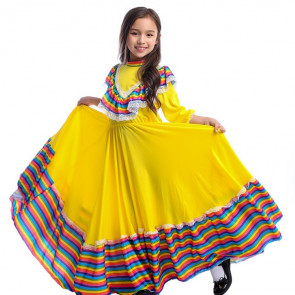 Girls Dress World National Mexican Style Costume