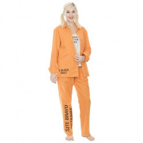Suicide Squad Harley Quinn Bravo Detainee 3 Piece Womans Costume Set