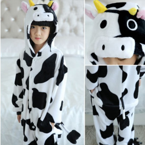 Kids Cow Onesie Jumpsuit Costume