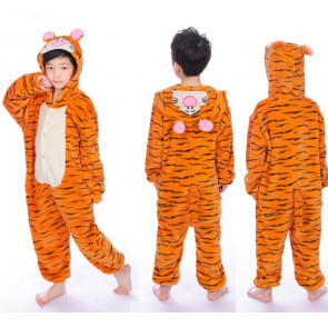 Kids Tiger Onesie Jumpsuit Costume