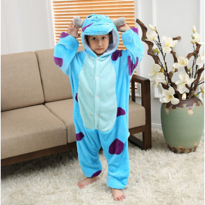 Kids Sully Monsters Inc Onesie Jumpsuit Costume