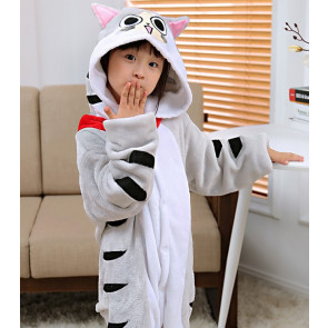 Kids Cat Onesie Jumpsuit Costume