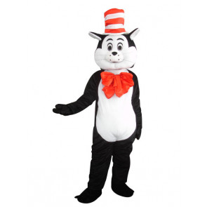 Giant Cat In The Hat Mascot Costume