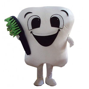 Giant Dentist Tooth Mascot Costume