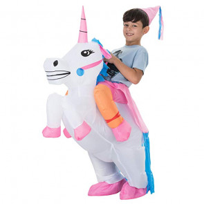Inflatable Riding Unicorn Costume For Kids