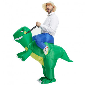 Inflatable Riding Dinosaur Costume
