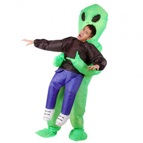 Green Alien Abducting Inflatable Costume